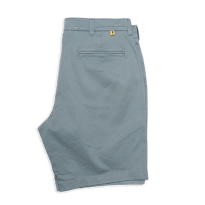 "Duckhead 9"" Gold School Chino Short in Lead Green"