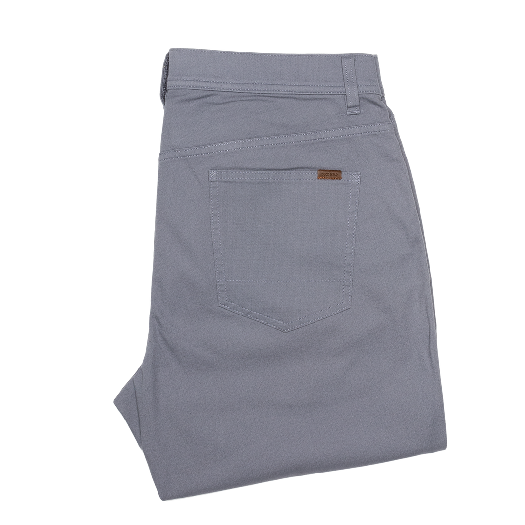 Duckhead 1865 Five-Pocket Pinpoint Canvas in Slate