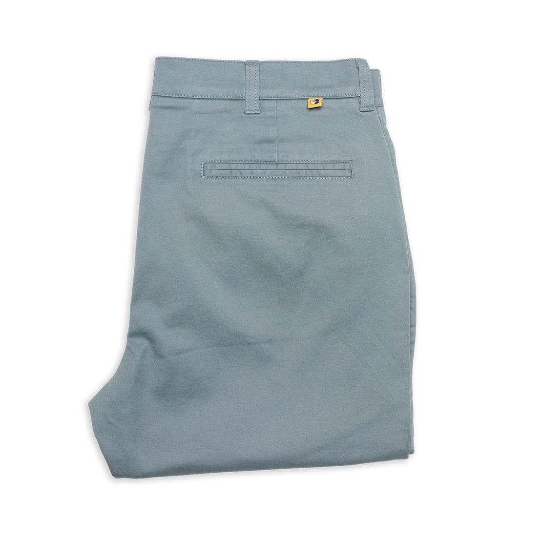 Duckhead Gold School Chino in Lead Green