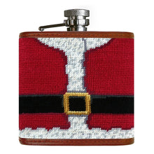Load image into Gallery viewer, Smathers & Branson Santa Needlepoint Flask