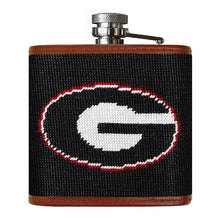 Load image into Gallery viewer, Smathers & Branson Georgia Needlepoint Flask in Black