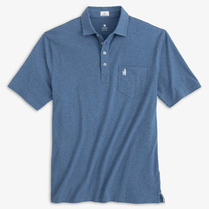 Johnnie-O The Original 4-Button Heathered Polo in Oceanside