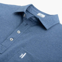 Load image into Gallery viewer, Johnnie-O The Original 4-Button Heathered Polo in Oceanside