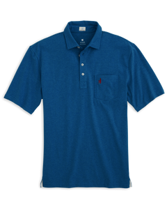 Johnnie-O The Original 4-Button Heathered Polo in Rip Tide