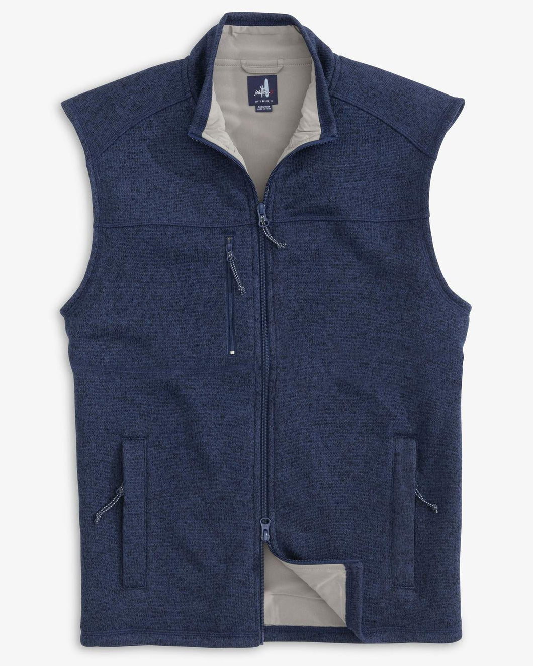 Johnnie-O Wes Zip Front Vest in Wake
