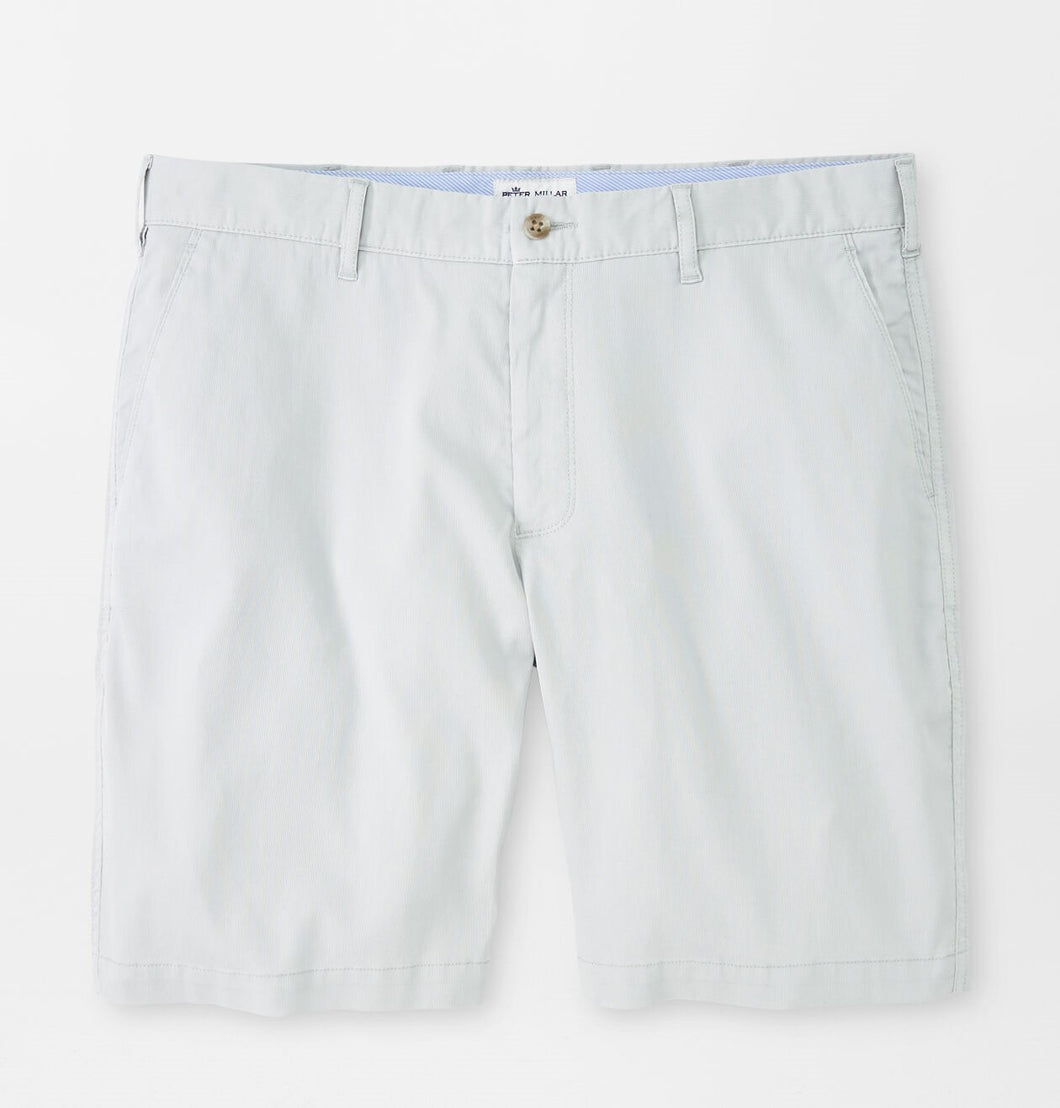Peter Millar Bedford Cotton-Blend Short in British Grey