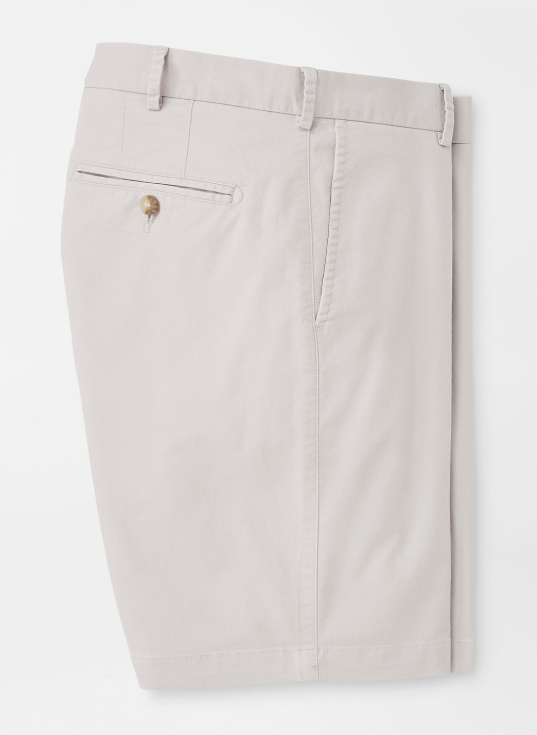 Peter Millar Soft Touch Twill Short in Light Grey