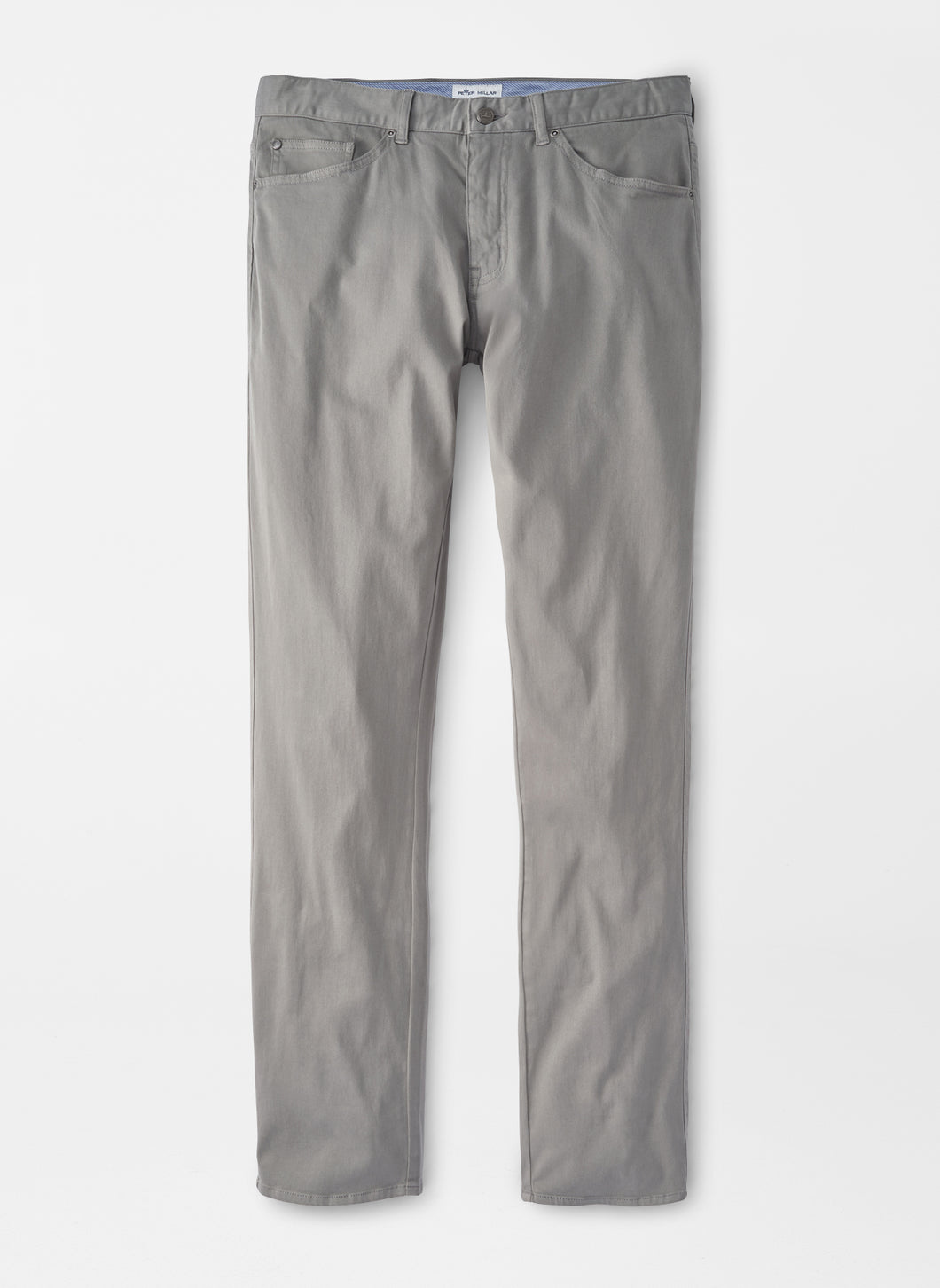 Peter Millar Ultimate Sateen Five-Pocket Pant in Gale Grey