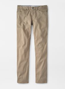 Peter Millar Ultimate Sateen Five-Pocket Pant in Grain