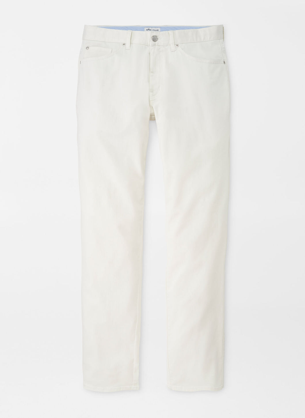 Peter Millar Ultimate Sateen Five-Pocket Pant in Ivory