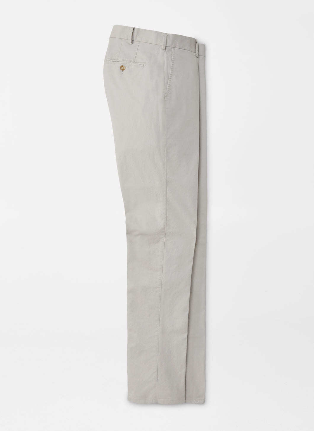 Peter Millar Soft Touch Twill Flat Front Trouser in Light Grey