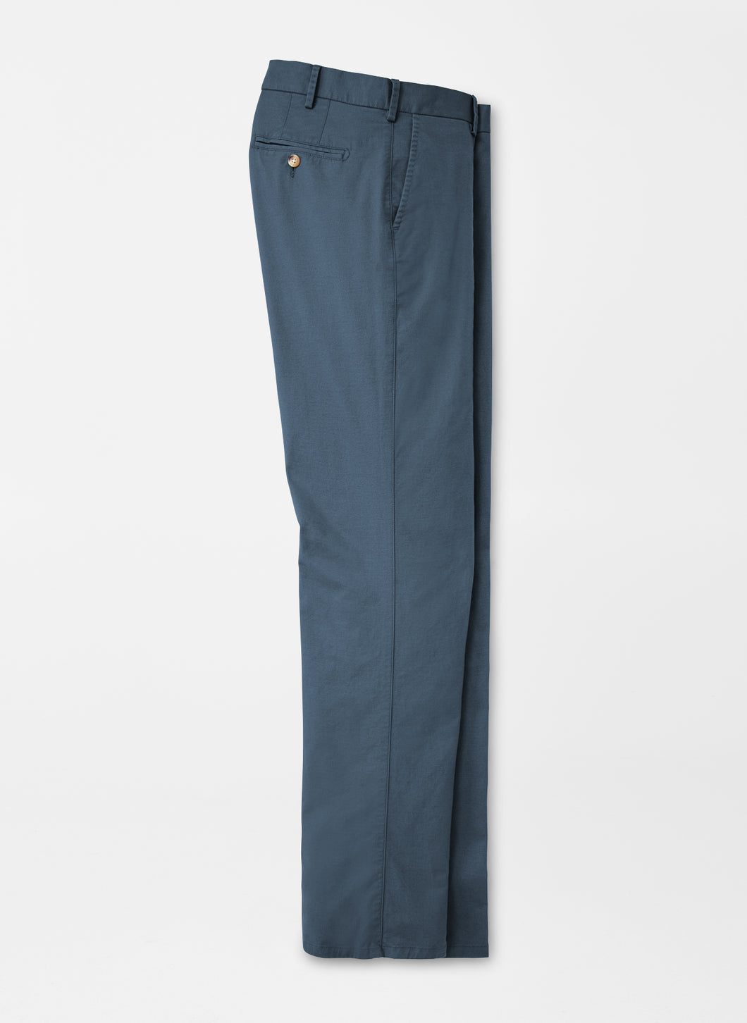 Peter Millar Soft Touch Twill Flat Front Trouser in Navy