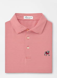 Peter Millar Georgia Standing Bulldog Jubilee Stripe Performance Polo in Red3