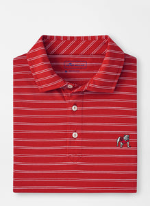 Peter Millar Georgia Standing Bulldog Dunns Cotton Polo in Red3