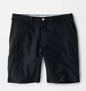 Peter Millar Salem High Drape Performance Short in Black