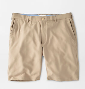 Peter Millar Salem High Drape Performance Short in Khaki