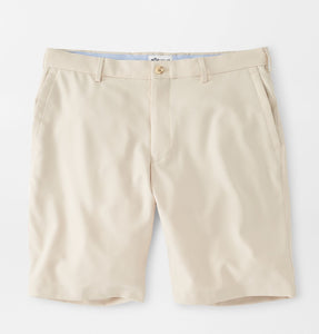 Peter Millar Salem High Drape Performance Short in Stone