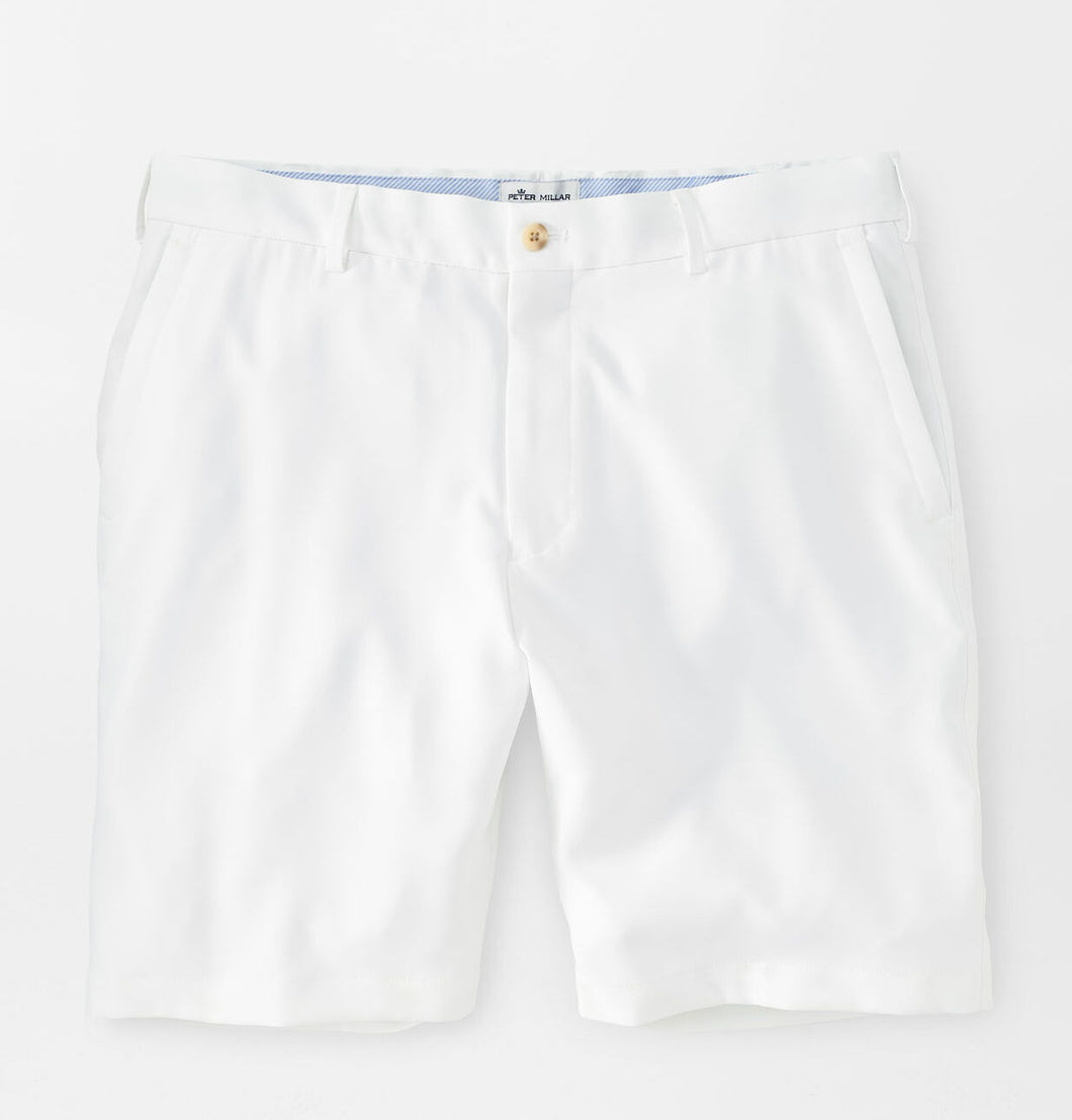Peter Millar Salem High Drape Performance Short in White