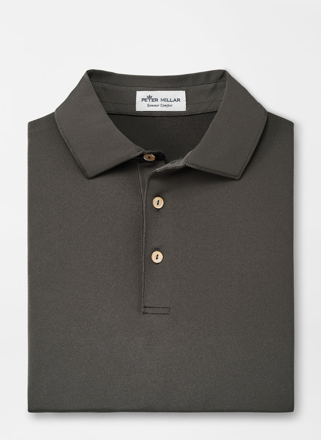 Peter Millar Solid Performance Polo in Iron