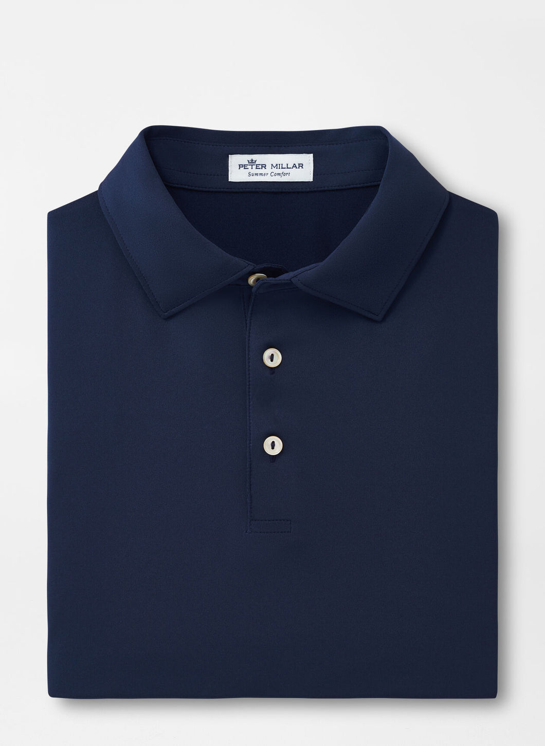 Peter Millar Solid Performance Polo in Navy