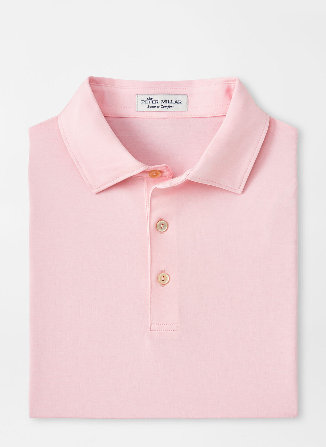 Peter Millar Solid Performance Polo in Palmer Pink