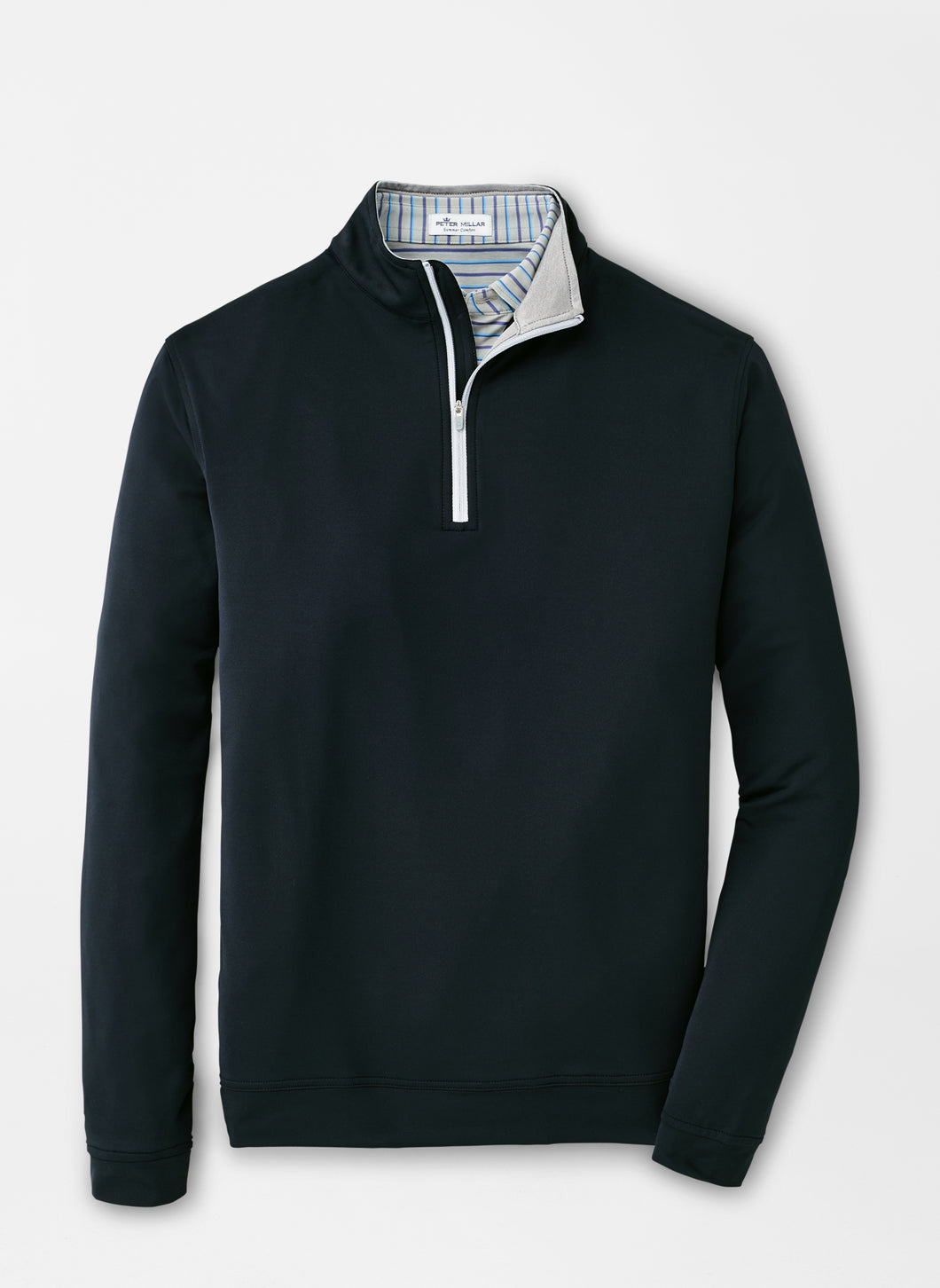 Peter Millar Perth Stretch Loop Terry Quarter-Zip in Black