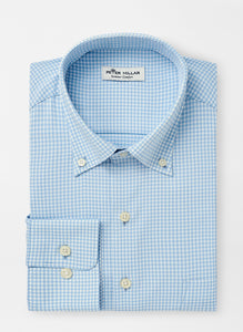 Peter Millar Mimi Check Performance Sport Shirt in Cottage Blue