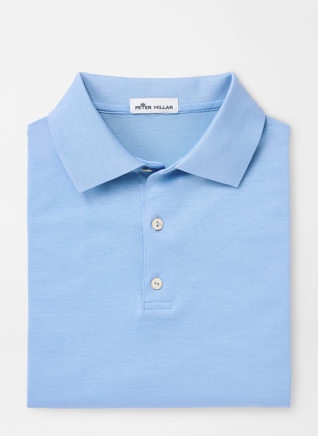 Peter Millar Solid Mercerized Cotton Polo in Cottage Blue