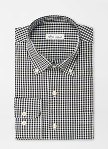 Peter Millar Crown Soft Gingham Sport Shirt in Black