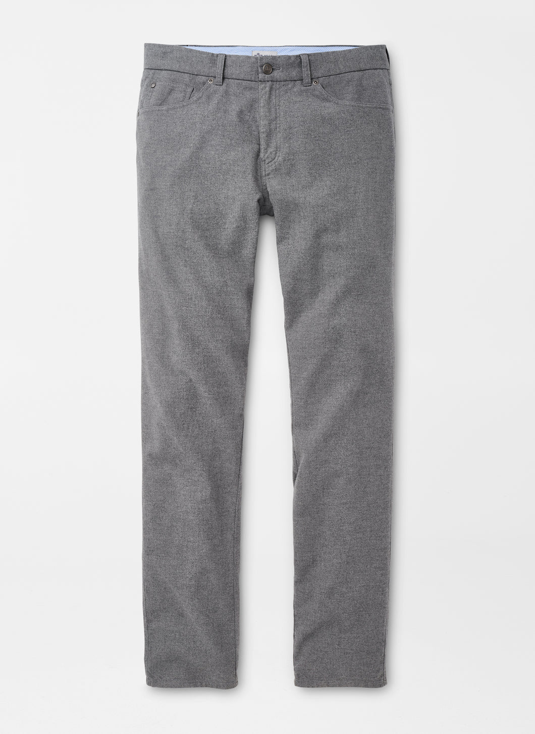 Peter Millar Flannel Five-Pocket Pant in British Grey