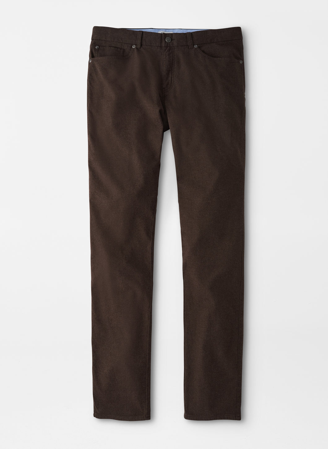 Peter Millar Flannel Five-Pocket Pant in Carob Brown