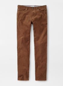 Peter Millar Superior Soft Corduroy Five-Pocket Pant in Scotch