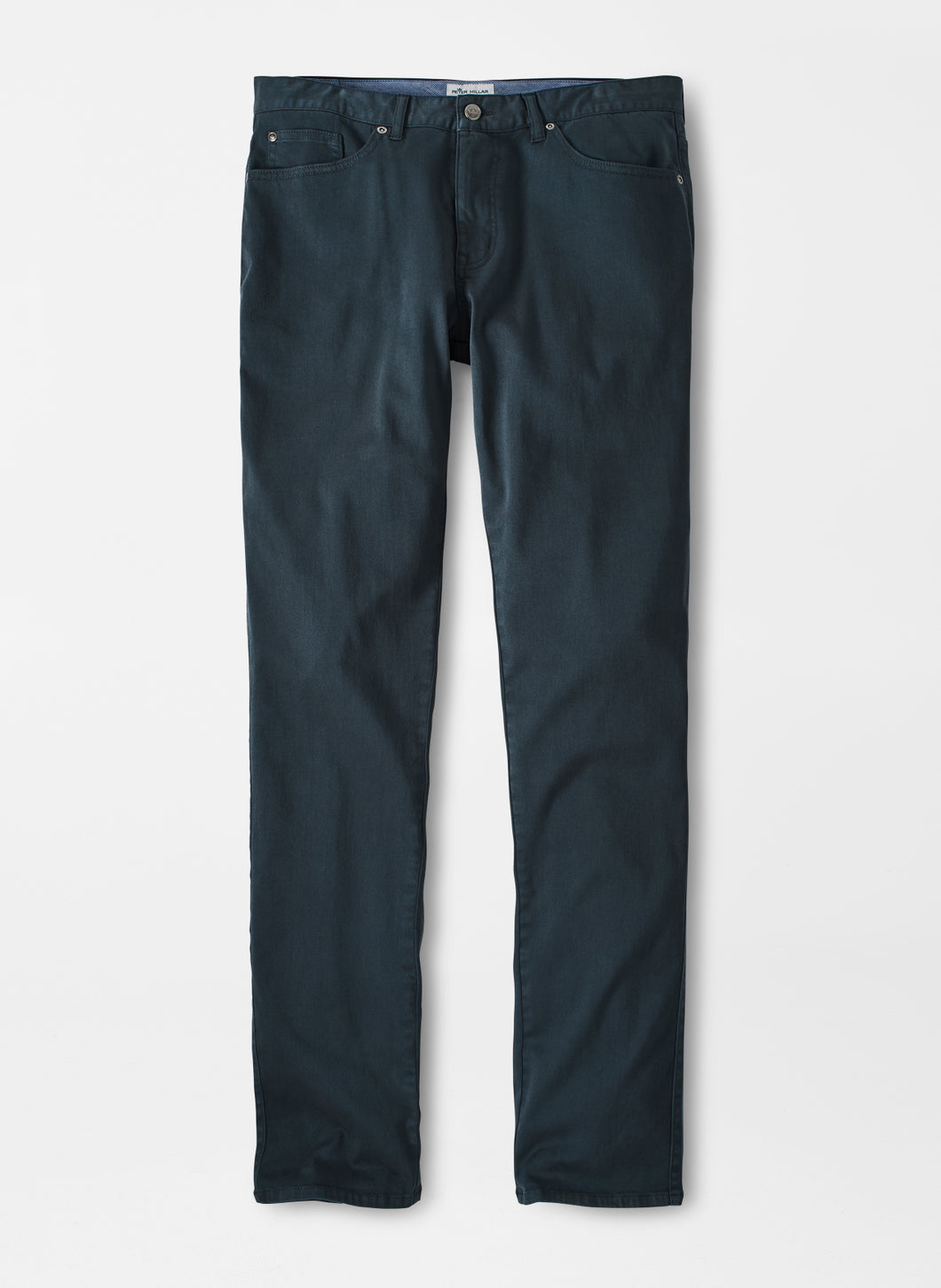 Peter Millar Ultimate Sateen Five-Pocket Pant in Charcoal