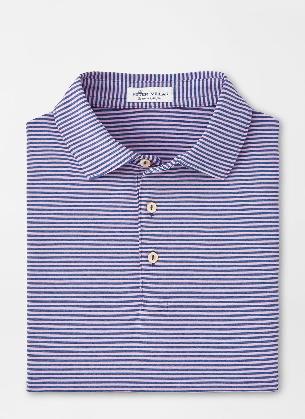Peter Millar Hales Performance Polo in Navy-Wild Lilac