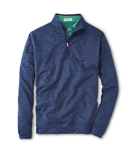 Peter Millar Perth Space Dye Performance Quarter-Zip in Navy