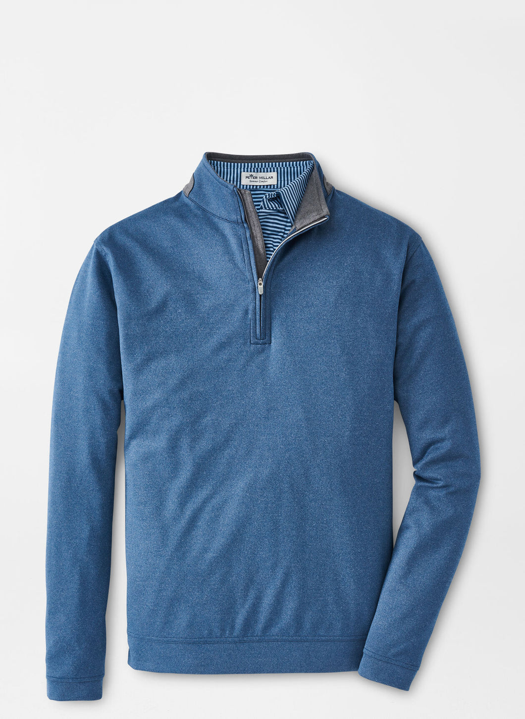 Peter Millar Mackay Performance Quarter-Zip in City Blue