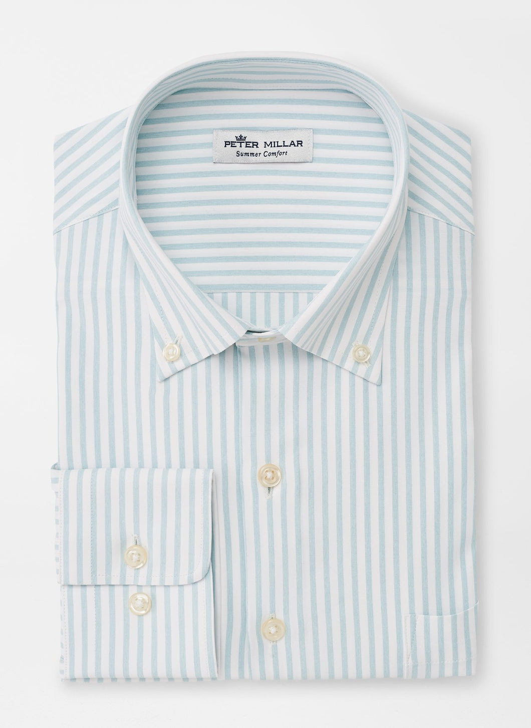Peter Millar Gates Natural Touch Sport Shirt in Frost Blue