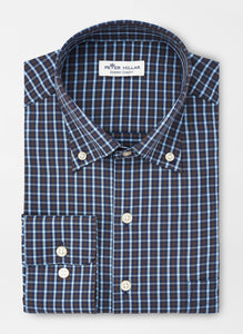 Peter Millar Morgan Performance Sport Shirt in Navy