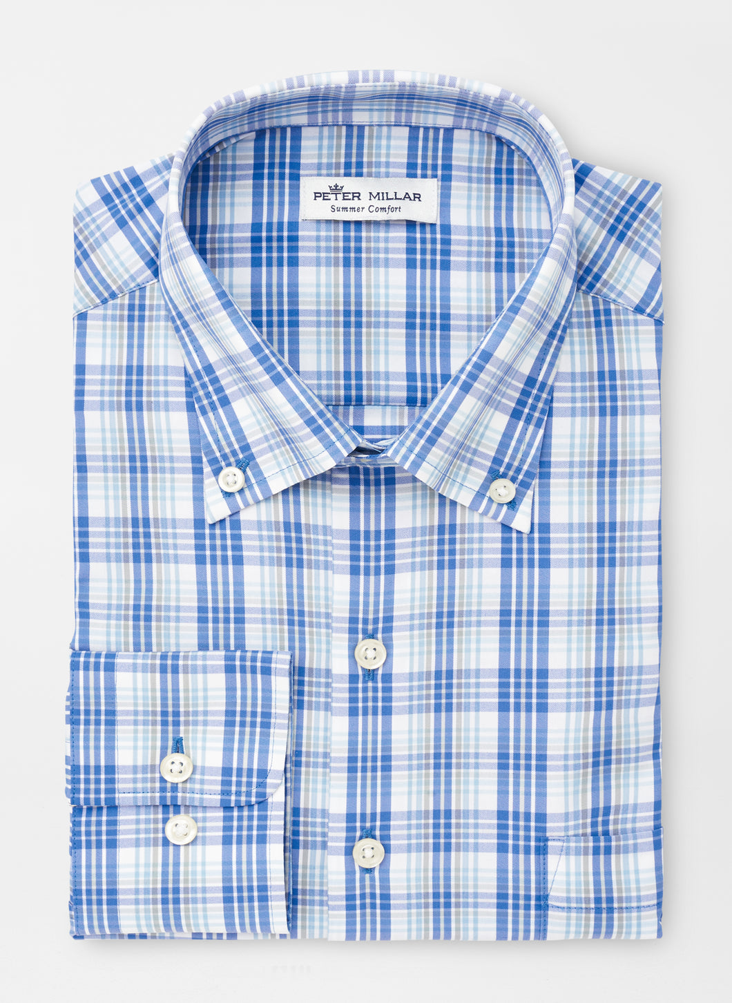 Peter Millar Walker Performance Sport Shirt in Cape Blue
