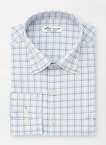 Peter Millar Fulton Performance Sport Shirt in Cape Blue