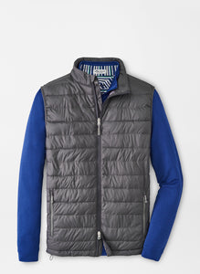 Peter Millar Hyperlight Quilted Vest in Iron
