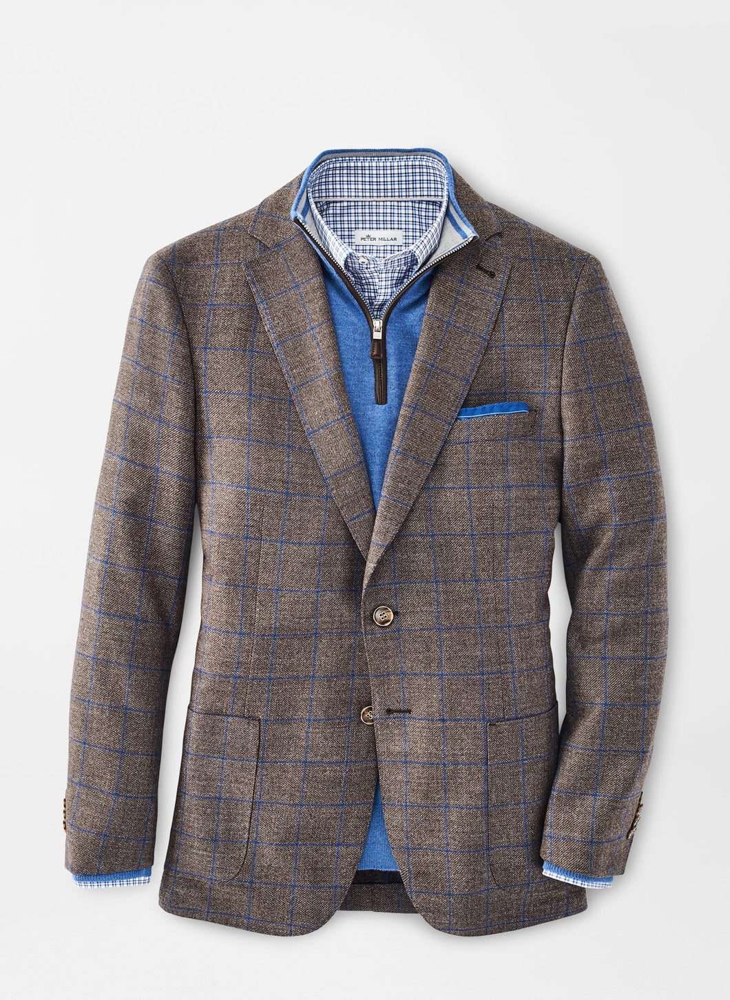 Peter Millar Classic Windowpane Soft Jacket
