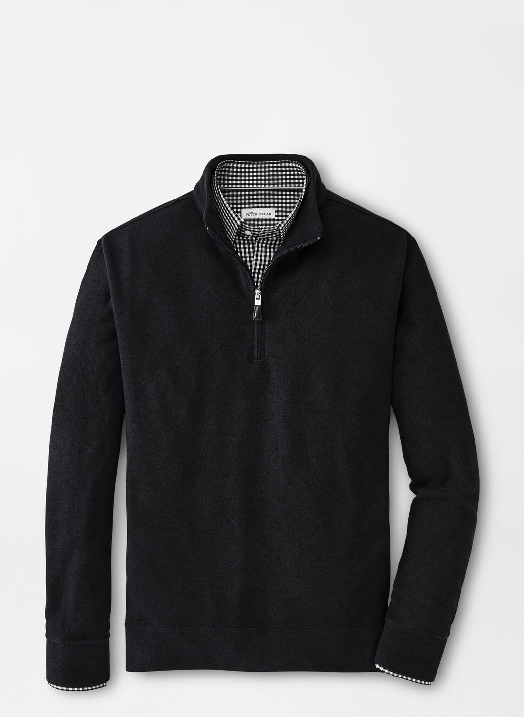 Peter Millar Arnie Fleece Quarter-Zip in Black