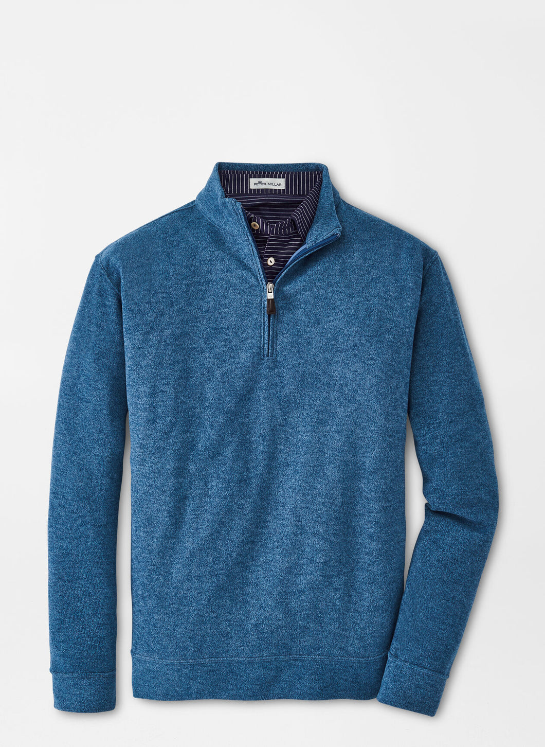 Peter Millar Arnie Fleece Quarter-Zip in City Blue