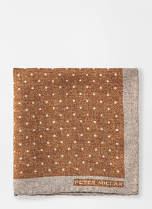 Peter Millar Polka Dot Pocket Square in Vicuna