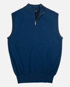 Turtleson Blount Quarter-Zip Vest in Navy