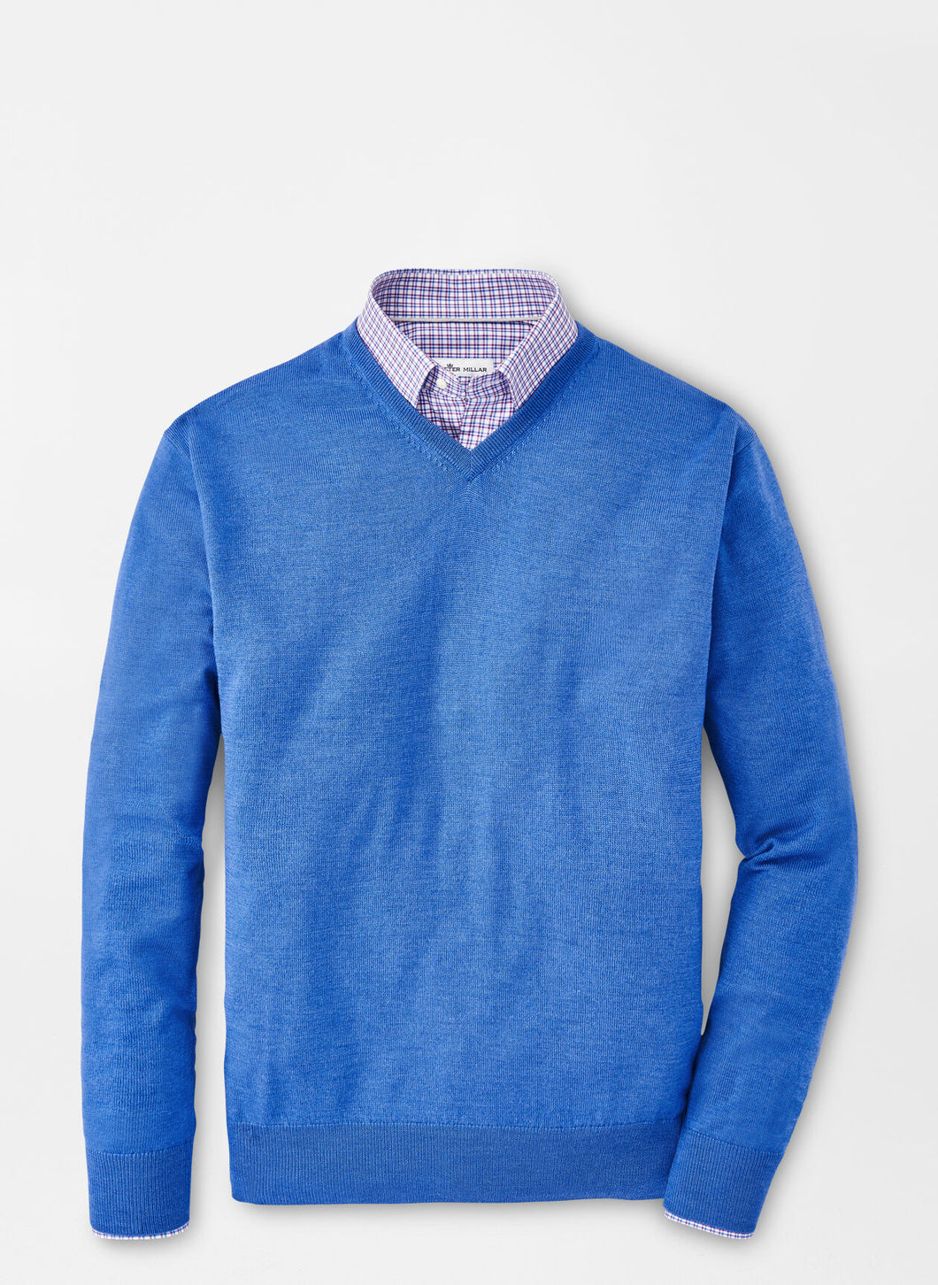 Peter Millar Crown Soft Merino-Cashmere V-Neck in Cape Blue