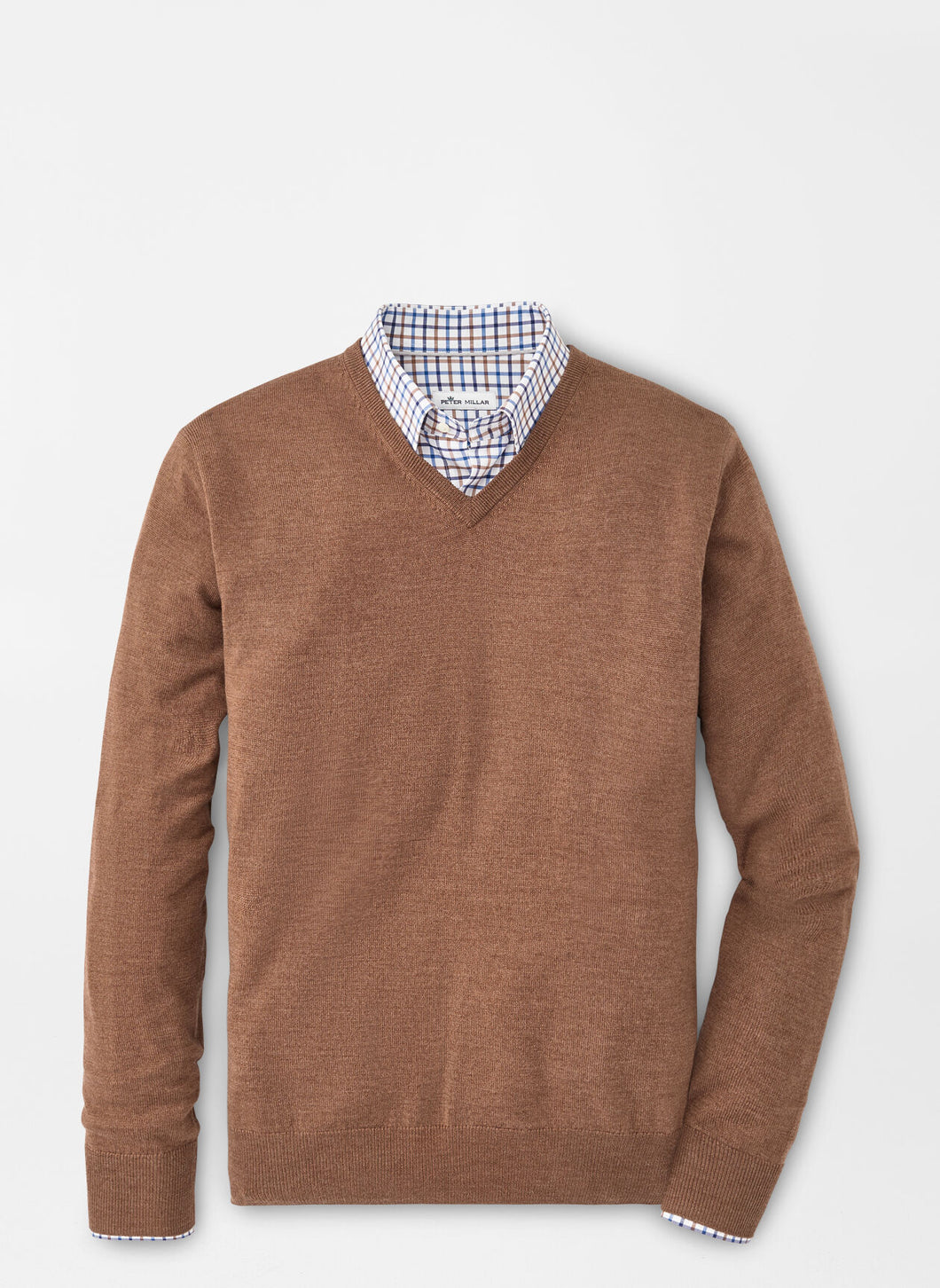Peter Millar Crown Soft Merino-Cashmere V-Neck in Scotch