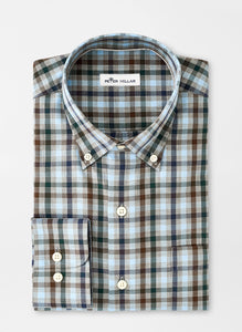 Peter Millar Crown Ease Phillip Sport Shirt in Gale Grey