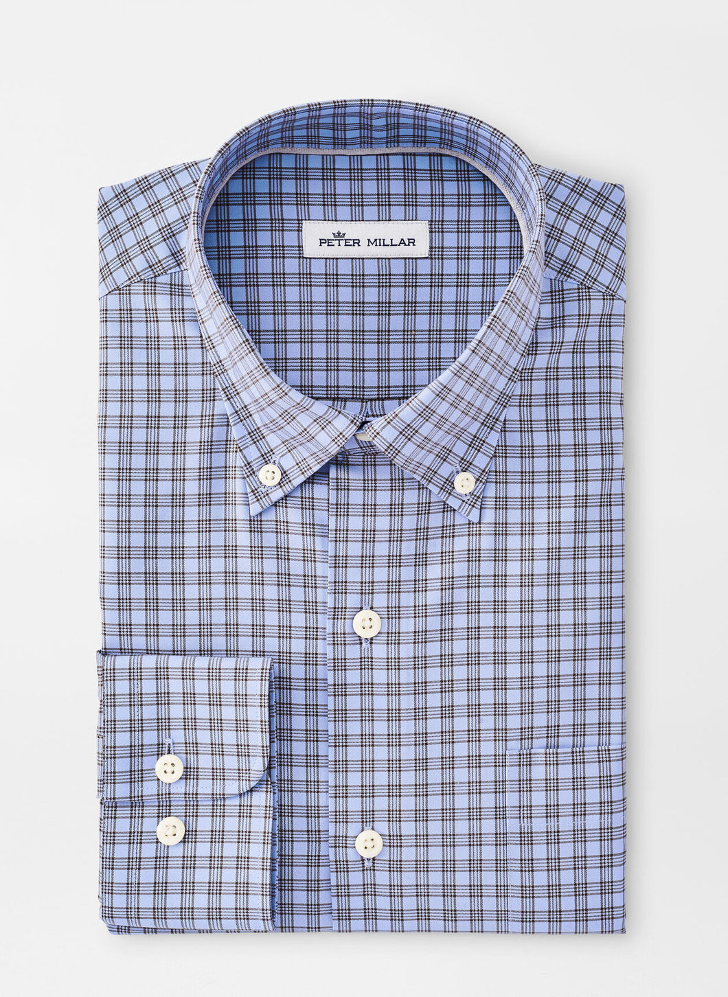 Peter Millar Crown Soft Francis Sport Shirt in Cottage Blue